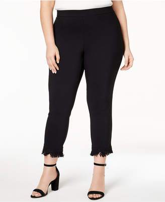 Style&Co. Style & Co Plus Size Fringe-Hem Cropped Pants