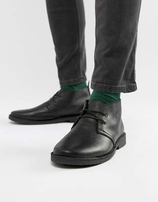 Jack and Jones leather desert boots