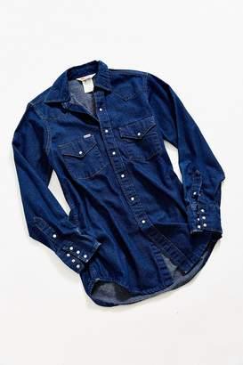 Urban Outfitters Vintage Vintage Carhartt Deep Blue Denim Western Shirt