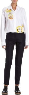 Dries Van Noten Embellished Menswear Shirt Dress