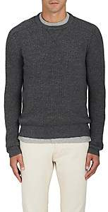 RRL Men's Waffle-Knit Cashmere Sweater - Dark Gray