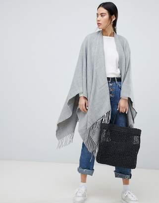 Asos Design DESIGN plain cape in grey