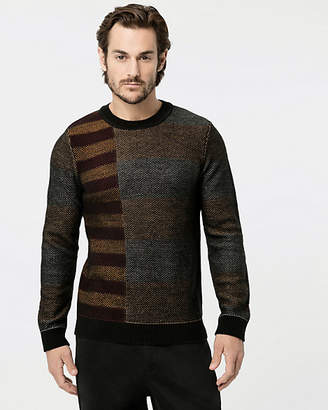 Le Château Stripe Wool Blend Crew Neck Sweater