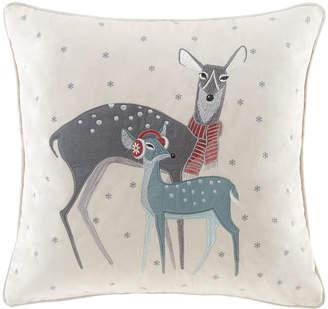 Madison Park Winter Wonderland Deer Square Throw Pillow
