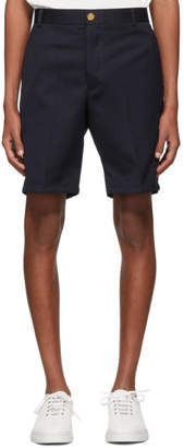 Thom Browne Navy Stripe Unconstructed Shorts