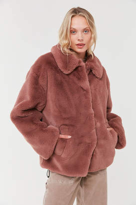 Urban Outfitters Oversized Faux Fur Coat