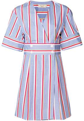 MAISON KITSUNÉ striped V-neck dress