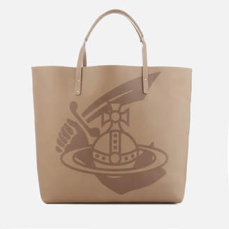 Vivienne Westwood Women's Made in Kenya Leather Shopper Bag - Beige