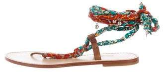 Belle by Sigerson Morrison Embellished Ankle-Wrap Sandals