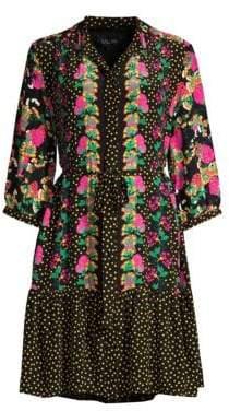 Saloni Tyra Printed Silk Dress