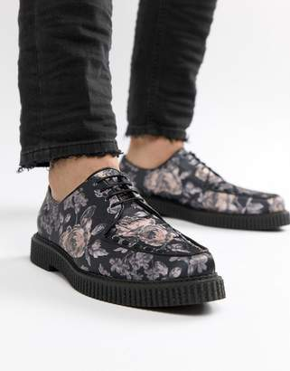 Asos (エイソス) - ASOS DESIGN Lace Up Creeper Shoes In Floral Print