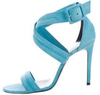 Barbara Bui Quilted Ankle Strap Sandals