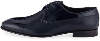 Jared Lang Men's Textured Dress Lace-Up Shoes