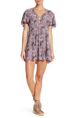 Show Me Your Mumu Matilda Lace-Up Mini Dress