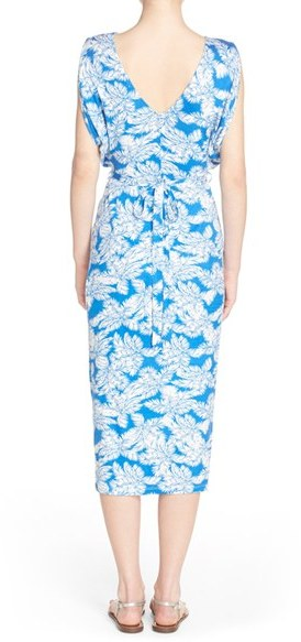 Women's Fraiche By J Shirred Print Midi Dress 2