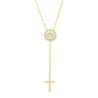 Paige Harper Cubic Zirconia Serenity Prayer Necklace