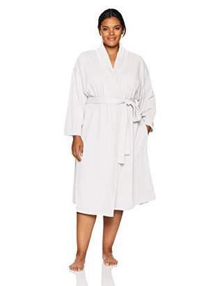Arabella Women's Plus Size Baby Terry Kimono Wrap Robe