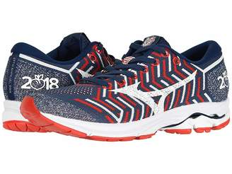 Mizuno Wave Rider 21 (Estate Blue/High Risk Red