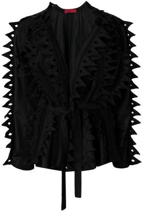 Di Liborio serrated detail belted jacket