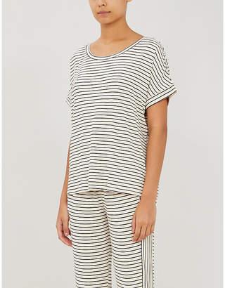 Eberjey Vega striped stretch-jersey T-shirt