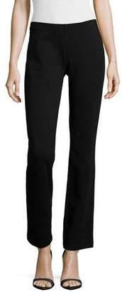 Eileen Fisher Boot-Cut Ponte Pants, Black