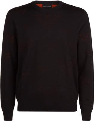 Emporio Armani Two Tone Eagle Sweater