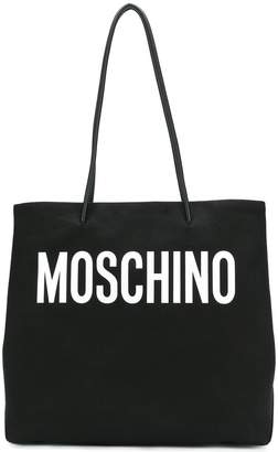 Moschino large canvas logo tote