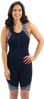 Women's Dolfin Aquashape Racerback Zip-Front One-Piece Swimsuit