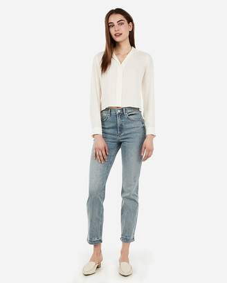 Express High Waisted Original Vintage Straight Jeans