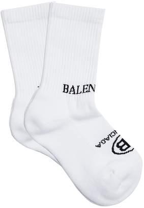 Balenciaga Logo-jacquard cotton-blend socks