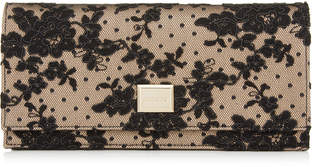 Jimmy Choo LILIA Black Floral Lace Mini Bag