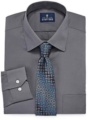 STAFFORD Stafford Box Shirt And Tie Set Big And Tall