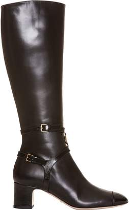 Gucci Women's Suede Mid Heel Tall Boots
