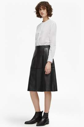 French Connenction Gizo Leather A Line Skirt