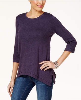 Style&Co. Style & Co Layered-Hem Top, Created for Macy's