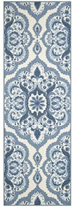 Maples Rugs Runner Rug - Vivian 2 x 6 Non Skid Hallway Carpet Entry Rugs Runners [Made in USA] for Kitchen and Entryway