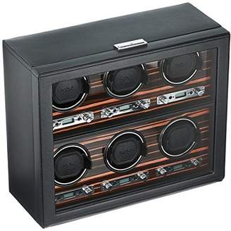 Wolf 459256 Roadster 6 Piece Watch Winder with Cover