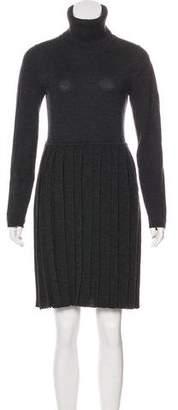 Alice + Olivia Wool Long Sleeve Dress