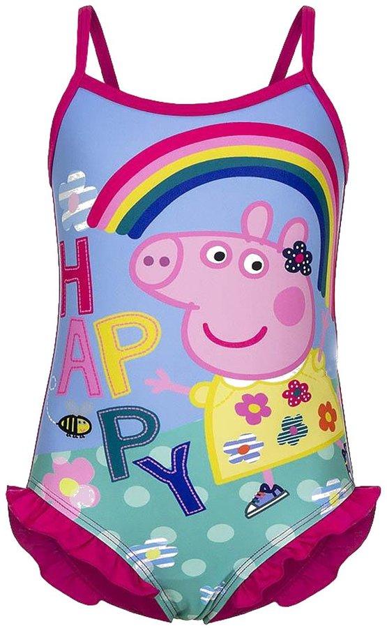 Peppa Pig Happy Rainbow Swimsuit ,Children Swimsuit 2 Colours: & Yellow