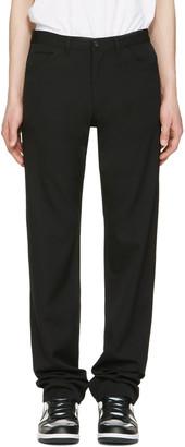Comme des Garçons Homme Plus Black Wool Gabardine Jeans $360 thestylecure.com