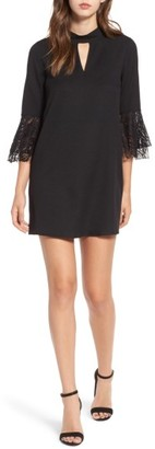 Women's Everly Lace Trim Bell Sleeve Dress $49 thestylecure.com