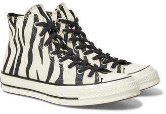 bc5449372194 Converse 1970s Chuck Taylor All Star Zebra-Print Canvas High-Top Sneakers -  Men