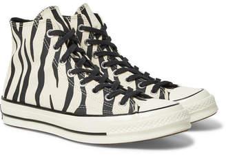 4f982aa3aeae Converse 1970s Chuck Taylor All Star Zebra-Print Canvas High-Top Sneakers -  Men