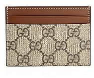 Gucci Women's Linea GG Canvas & Leather Card Case