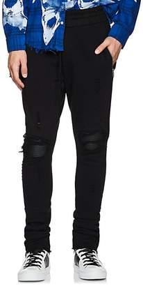Amiri Men's MX1 Leather-Inset Cotton Sweatpants