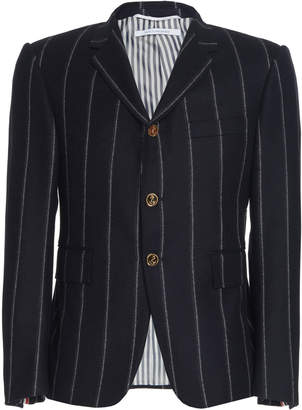 Thom Browne Chalk Stripe Wool Blazer