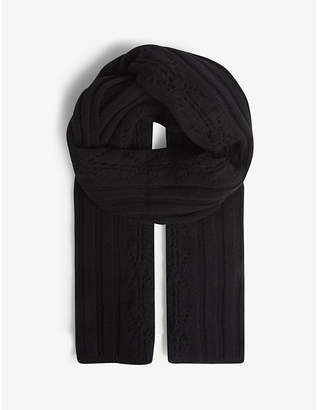 Claudie Pierlot Aristo aran-knit wool-blend scarf
