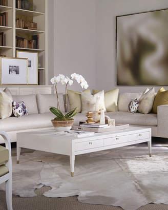 Century Furniture Monroe Faux-Shagreen Coffee Table