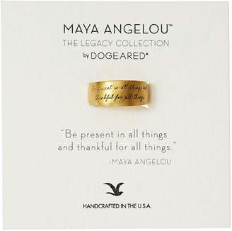 "Dogeared Women's ""Maya Angelou"" Be Present in All Things Engraved Band Ring, Size 8"