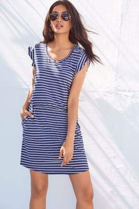 Next Womens Stripe Slub Dress